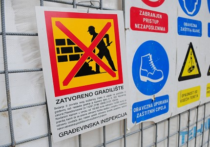 Zatvoreno gradiliste u Varsavskoj 200111